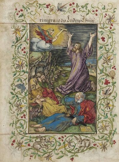 Albrecht Dürer, 'Christ on the Mount of Olives, from: The Engraved Passion (B., M., Holl. 4; S.M.S. 46)', 1508