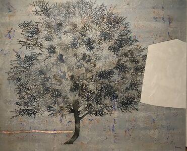 G.R. Iranna, 'Tree (grey)', 2017