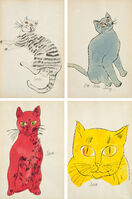 Andy Warhol, '25 Cats Named Sam and One Blue Pussy book: four plates', 1954