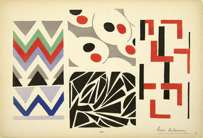 """Sonia Delaunay, 'From """"Ses Peintures, Ses Objets"""" Plate 4', 1924"""