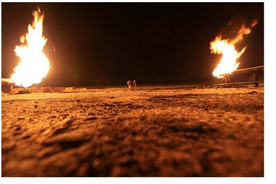 George Osodi, 'Gas Flare Duo', 2006