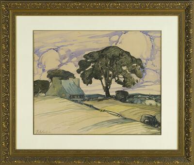 Marc-Aurèle Fortin, 'Grand Arbre et Vieille Maison', ca. 1928