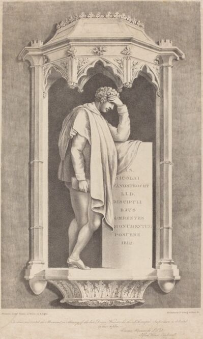 Augustine Aglio after John Flaxman, 'Monument to Nicolai Wanostrocht', 1822