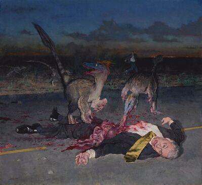 John Brosio, 'Dinosaurs Eating a CEO ', 2013
