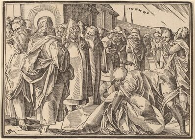 Christoph Murer, 'The Paralytic Healed by Christ Picks up His Pallet'