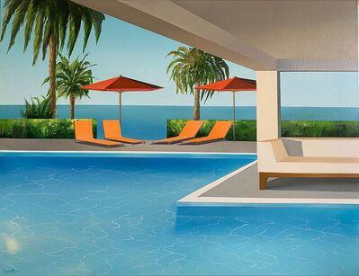 Daniel Raynott, 'A Bench Near the Pool', 2021