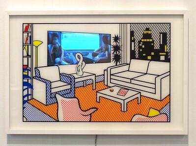 Daniel Cherbuin, 'Interior with Video Art', 2015