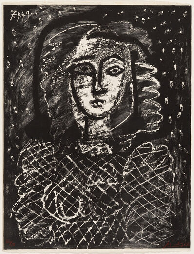 Pablo Picasso, 'Bust on a Starry Background', 1949