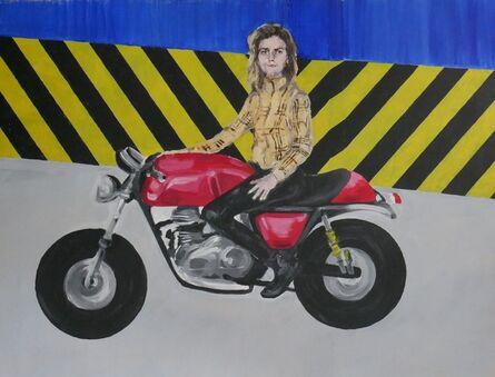 Marine Provost, 'Autoportrait à la moto', 2020