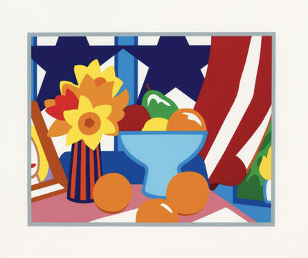 Tom Wesselmann, 'Still life with blowing curtain (red),', 1999