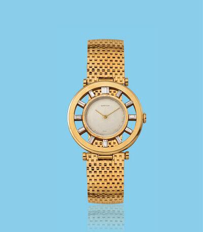 "Cartier, 'Yellow gold wristwatch, ""Timone"" or ""Gouvernail"" model', ca. 1950"
