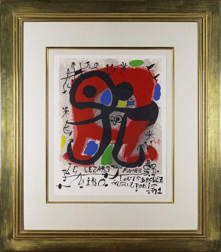 """Joan Miró, 'Affiche pour la parution du livre """"Le Lézard aux Plumes D'or""""', 1971"""