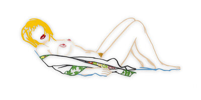 Tom Wesselmann, 'Steel Drawing Edition: Monica Laying Down on a Robe ', 1990