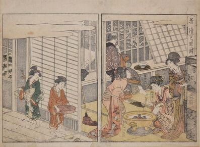 Kitagawa Utamaro, 'The Customer Who Stayed on the Next Day', 1804