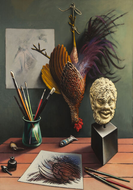 Peter Blume, 'Satyr with Cock and Angels ', 1967-1969