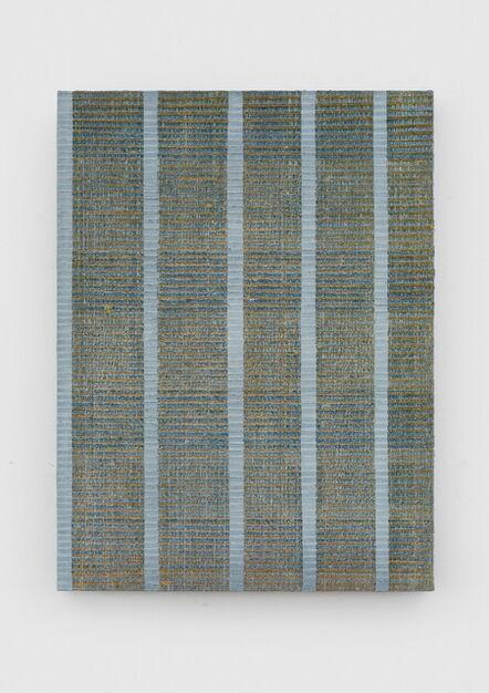 Chi Qun 迟群, 'Five Lines - Grey, Orange & Green', 2017