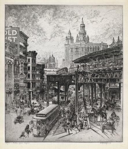 Curt Szekessy, 'Chatham Square, New York.', 1920