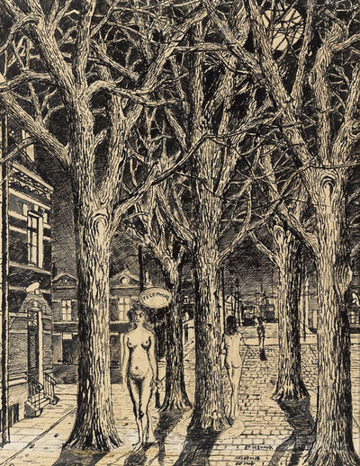 Paul Delvaux, 'Les Belles de Nuit', ca. 1962