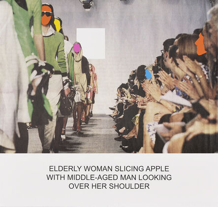 John Baldessari, 'The News: Elderly Woman Slicing Apple with Middle-Aged Man Looking Over Her Shoulder', 2014
