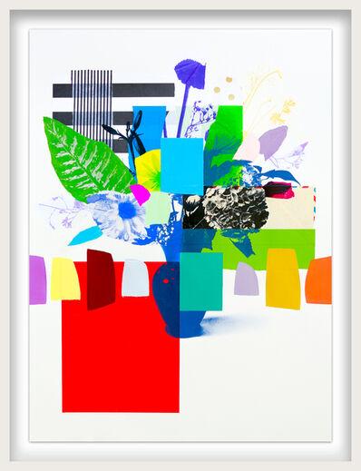 Emily Filler, 'Paper Bouquet (green leaf + stripes)', 2021