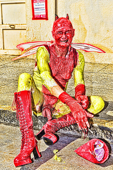 Mitchell Funk, 'Red Devil. Folsom Street Fair.   BDSM  Leather Event #7', 2015