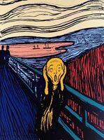 Andy Warhol, 'The Scream, Orange (Sunday B. Morning)', 1970-2020