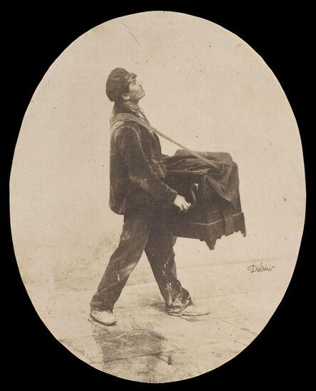 André Adolphe-Eugené Disdéri, 'Le Joueur d'Orgue (The Organ Grinder)', 1853