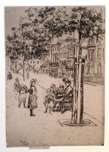 Theodore Roussel, 'Chelsea Children, Chelsea Embankment', 1889