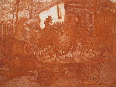 Jacques Villon, 'Manége Rue Caulaincourt ou Le Petit Manége Aux Chevaux de Bois', 1904