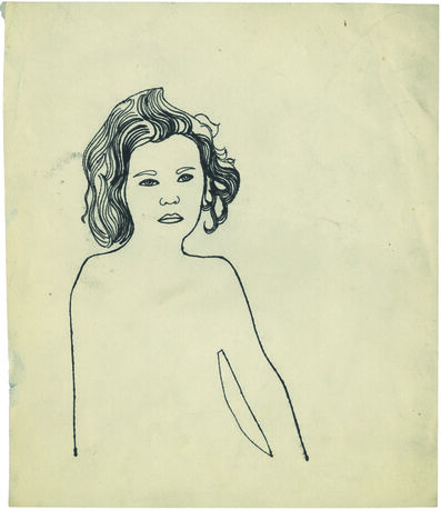 Andy Warhol, 'Serious Girl', 1954