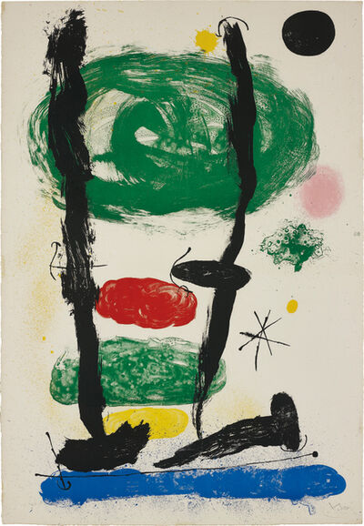 Joan Miró, 'Les Guetteurs (The Watchers); and Batteuse Paysage Champagne', 1964; and 1954