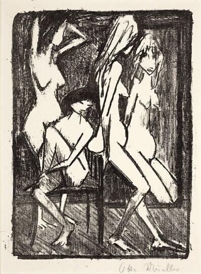Otto Müller, 'Drei Mädchen vor dem Spiegel (Three girls infront of the mirror)', ca. 1922