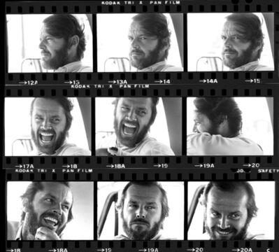 Harry Benson, 'Jack Nicholson (Contact Sheet)', 1976