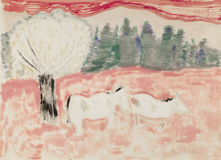 Milton Avery, 'Horses in a Landscape', 1963