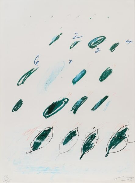 Cy Twombly, 'Natural History Part II: Some Trees of Italy (complete portfolio of 8)', 1976
