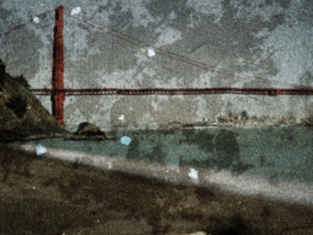 Abelardo Morell, 'Tent Camera Image on Ground- View of the Golden Gate Bridge From Kirby Cove', 2012