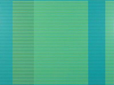 Matthew Kluber, 'Split Infinitives (blue green, dark teal, chartreuse)', 2021