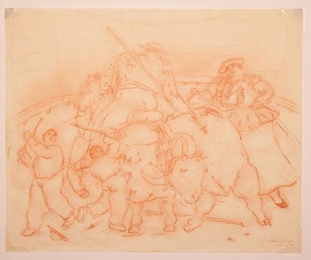 Fernando Botero, 'Escena taurina', 1983