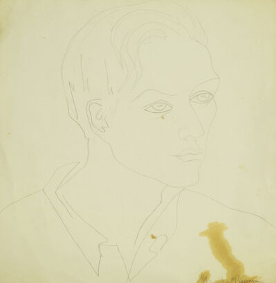 Marika Rivera, 'Portrait of a man (recto), Still life (verso)'