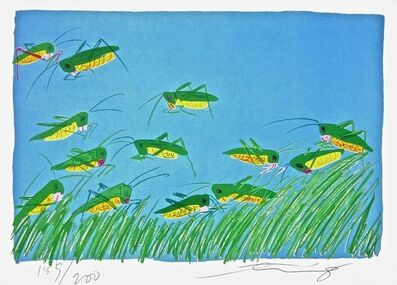 Walasse Ting 丁雄泉, 'Lucky Grasshoppers', 1981