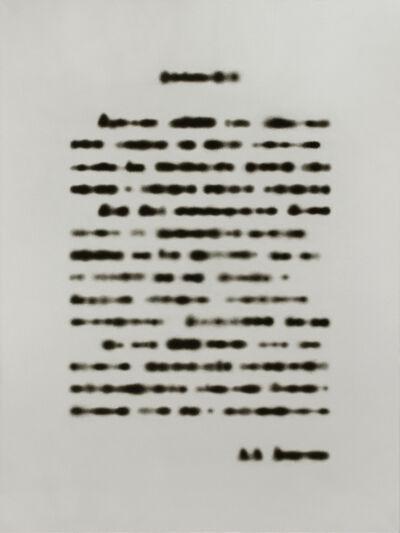 Rinat Voligamsi, 'Texts. Sheet 1', 2015