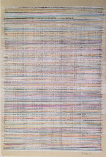 Horacio Zabala, 'Journal de Genève Censurado - Bourses suisses, 14-6-96', 1996