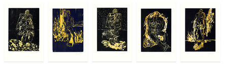 Georg Baselitz, 'REMIX Mantel, Rute, Der Hirte, Das Haus, Partisan', 2006