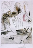 Salvador Dalí, 'Venus with fur : lovers and melting clock', 1968