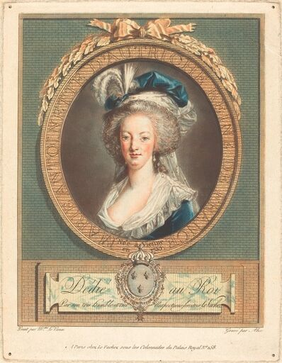 Pierre-Michel Alix after Elisabeth-Louise Vigée Le Brun, 'Queen Marie-Antoinette', ca. 1789
