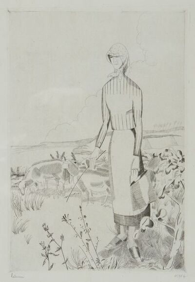 Jean-Emile Laboureur, 'La Grande Bergère', 1926