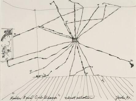 "Joe Zucker, '""Rubber Band Orb Weaver"" Installation', 1991"