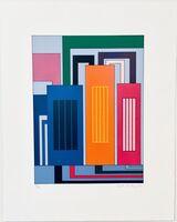 Peter Halley, 'Three Prisons', 2002