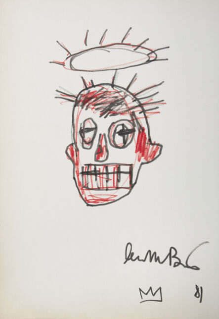 Jean-Michel Basquiat, 'Untitled Portrait with Crown of Thorns', 1981