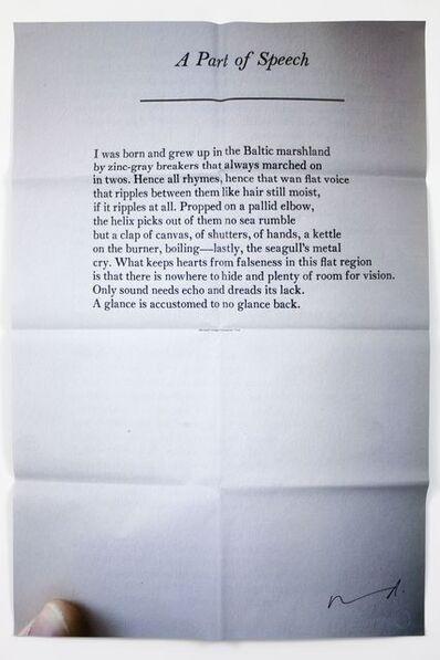 Darren Almond, 'Part of a Speech ', 2011